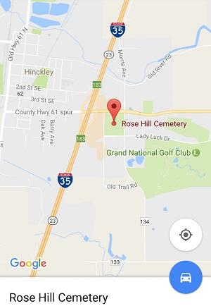 Contacting Hinckley Rosehill Cemetery